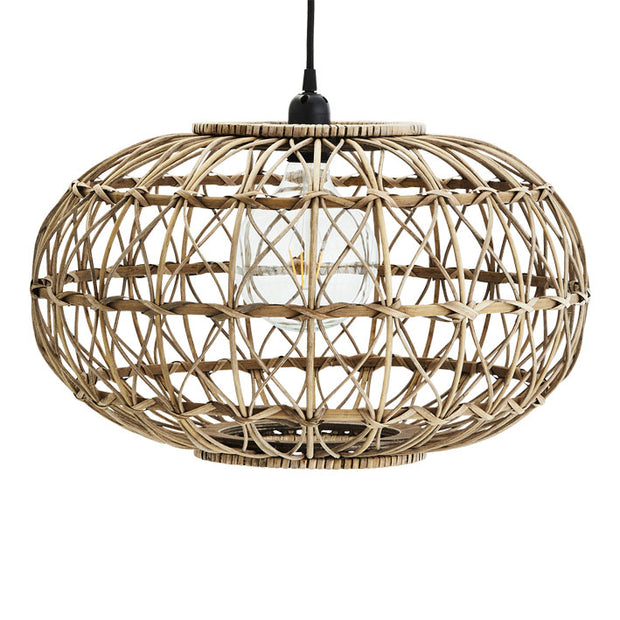 Rattan Ceiling Lamp with fittings by madam stoltz