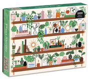 Plant Shelfie Jigsaw Puzzle - image of jigsaw box with shelves laden with plants, books & accessories - 9780735366541