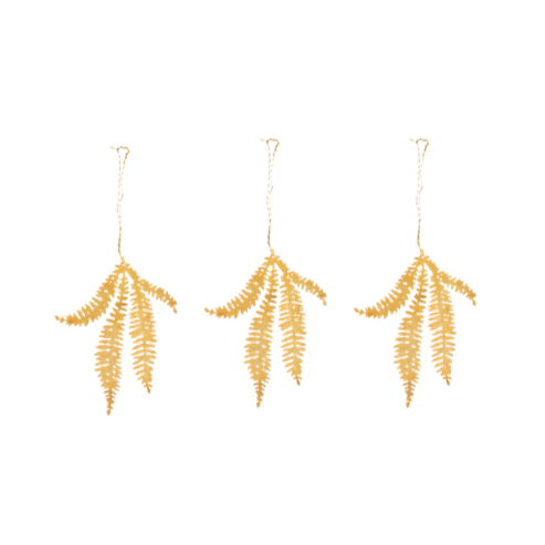 Brass Fern Leaf Decoration