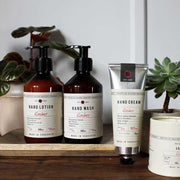 wooded amber skincare range