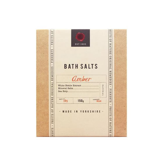 amber bath salts in gift envelope