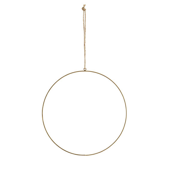 20 cm hanging brass hoop decoration