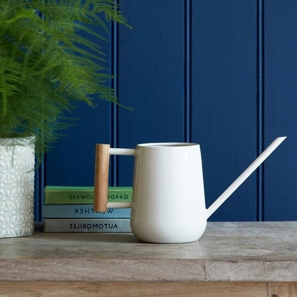 Indoor Watering Can with Wooden Handle