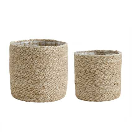 Jute basket planter - medium