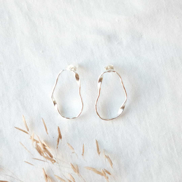 Wavy Organic Shape Earrings