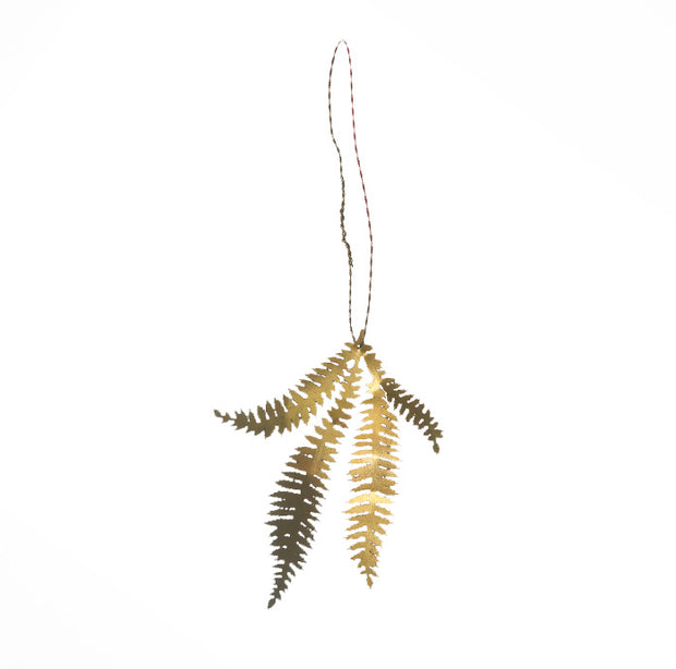 Brass Fern Leaf Decoration - From Victoria Shop
