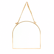 Gold Arched Hanging Mirror - From Victoria Shop