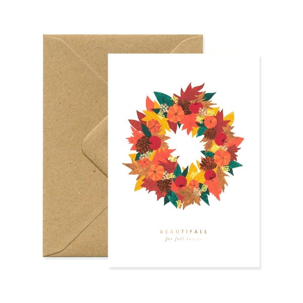 Beautifall Autumnal A6 Greetings Card