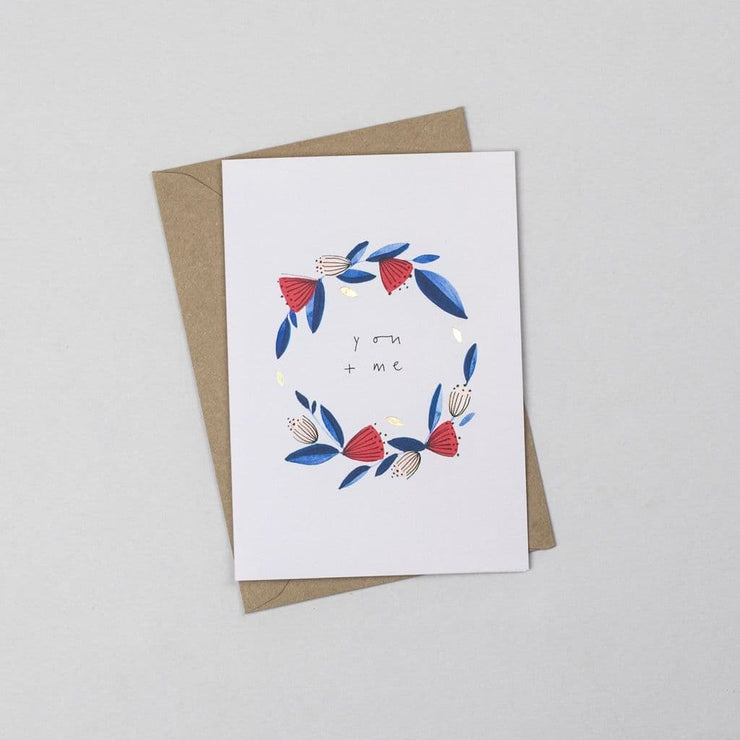 You + Me - A6 Greeting Card