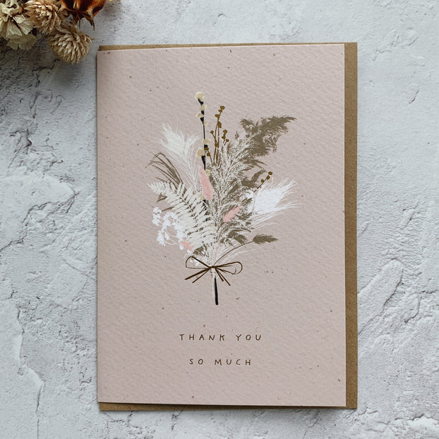 'Thank You So Much' Greeting Card