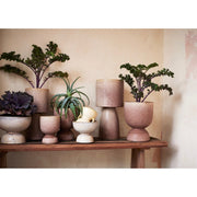 Powder Brown Stoneware Plant Pot