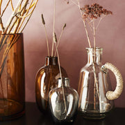 Brown Cylinder Glass Vase