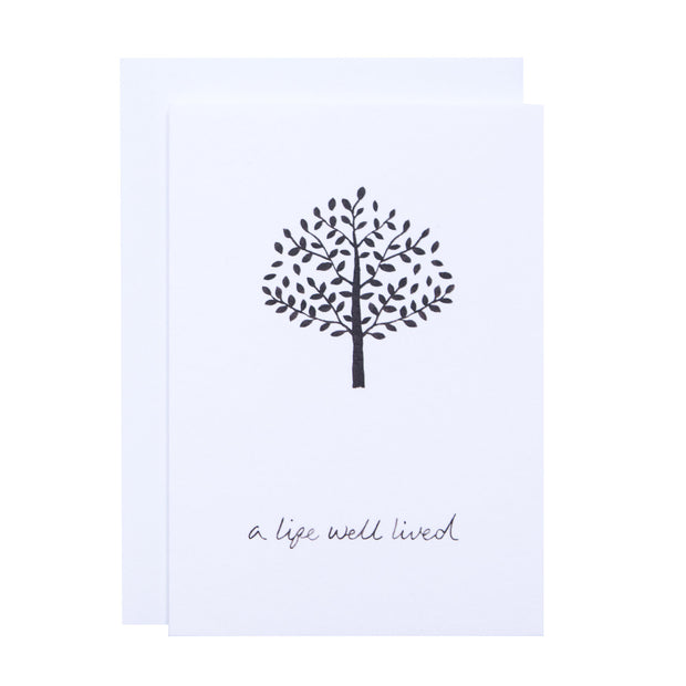 A Life Well Lived - Greeting card