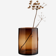 Brown Glass Vase - From Victoria Shop