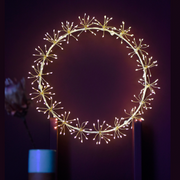 Starburst White Light Wreath