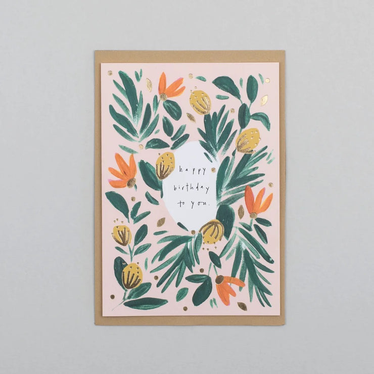 Happy Birthday To you - A6 Greeting Card