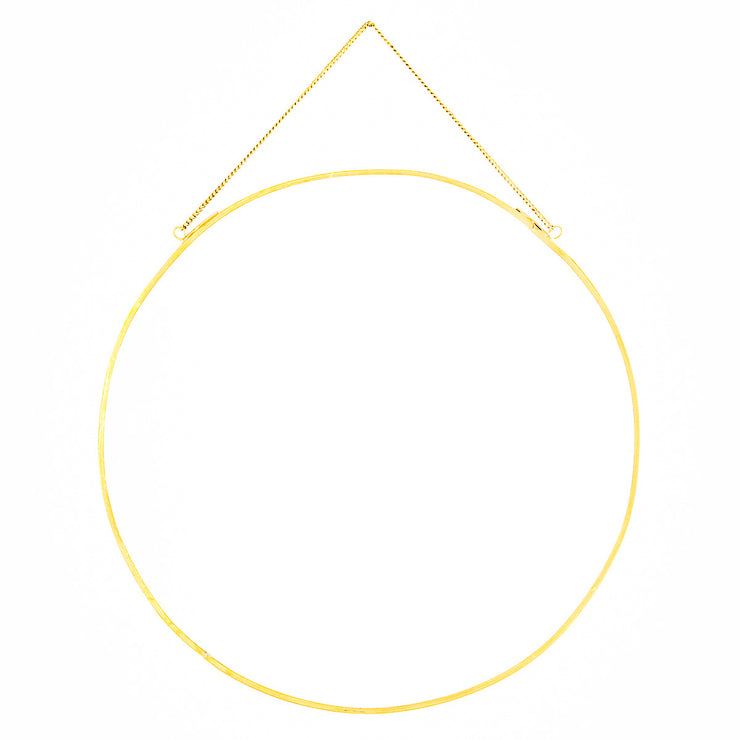 Gold Circle hanging Mirror