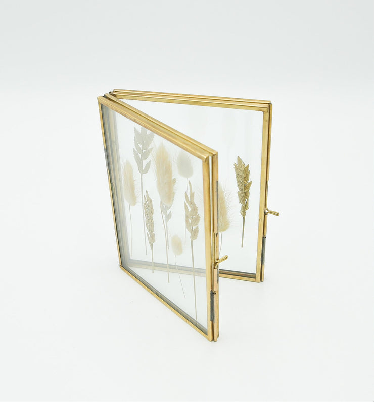 Double Brass Photo Frame