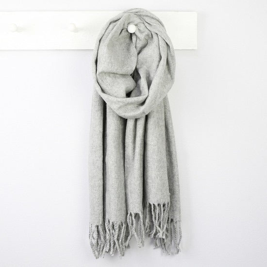 Grey Super Soft Lambswool Scarf