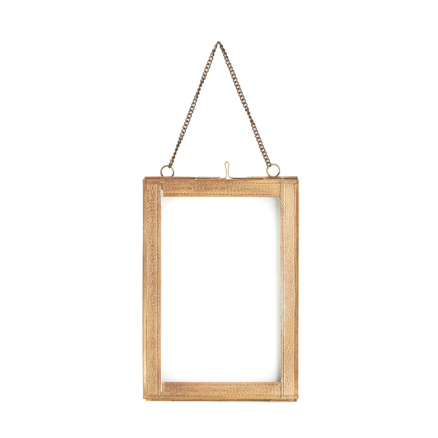 Hanging Photo Frame with Engraved Borders