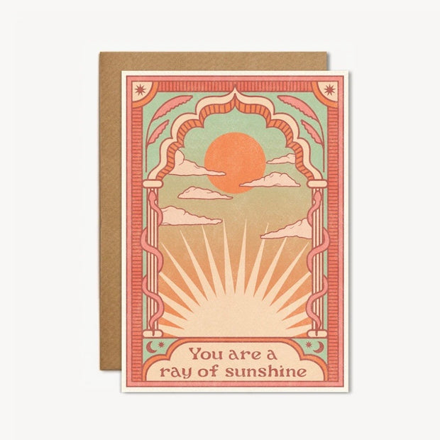 You Are a Ray of Sunshine greetings card
