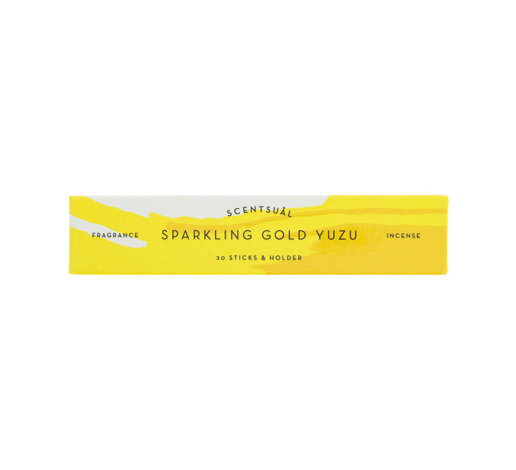 Scentsual Sparkling Gold Yuzu Incense Sticks