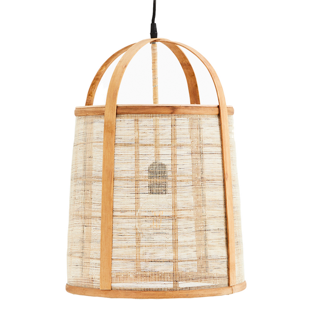 Bamboo Tier Ceiling Light with Linen