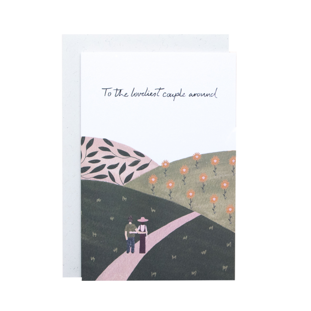 To the loveliest couple around - Greeting card