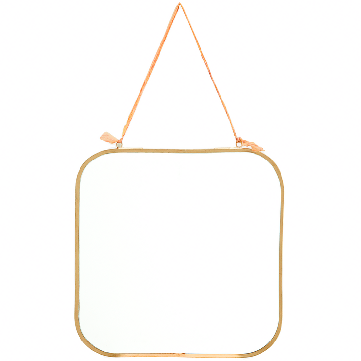 Gold Square hanging Mirror - From Victoria Shop