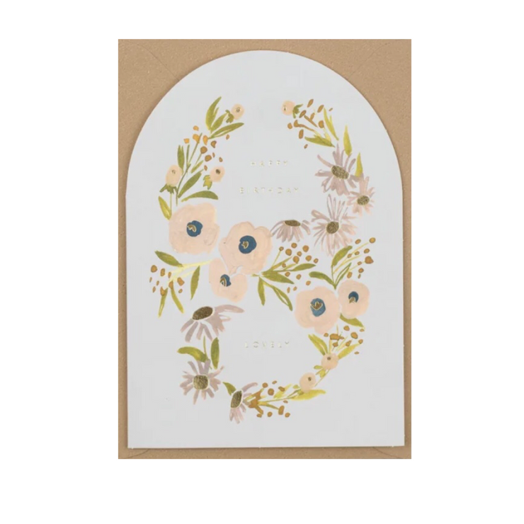 Happy Birthday Lovely - A6 Greeting Card