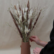 DIY Dried Flower Winter Arrangement