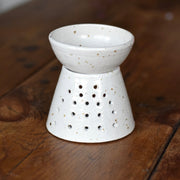 Handmade Ceramic Oil Burner with Speckled Glaze