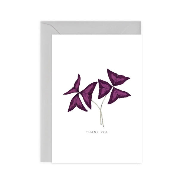 Oxalis Thank You A6 Greetings Card
