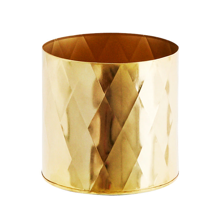 Gold metal planter
