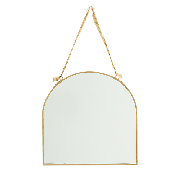 Gold Arched Hanging Mirror