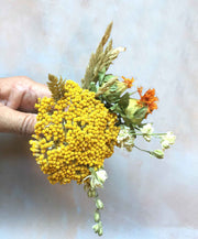 Dried Yellow Achillea Parker Flowers