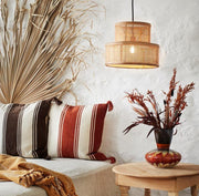 Rattan ceiling lamp with fittings