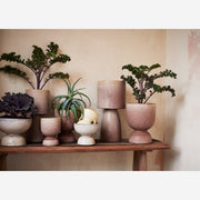 Wide Stoneware Plant Pot - Large