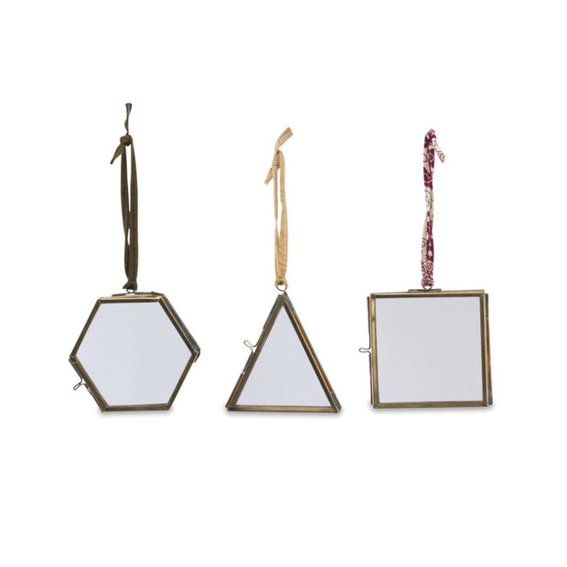 Mini Hanging Brass Photo Frame