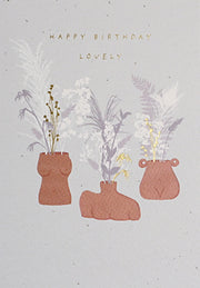 'Happy Birthday Lovely' Greeting Card