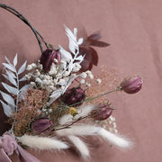 Pink Mini Dried Flower Birch Wreath
