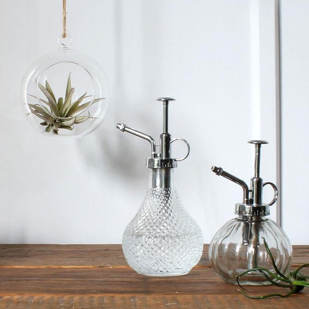 stylish glass house plant spray bottles in two designs