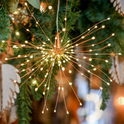 twinkling copper wire LED lights for christmas displays