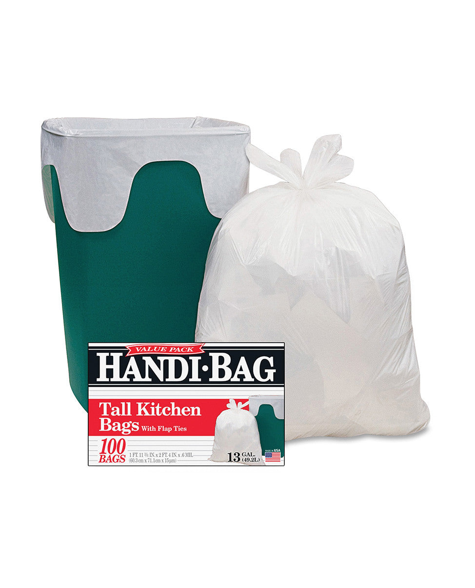 Best Home Cleaning Supplies in McLean | HANDI BAGS Tall Kitchen | Discount Essentials