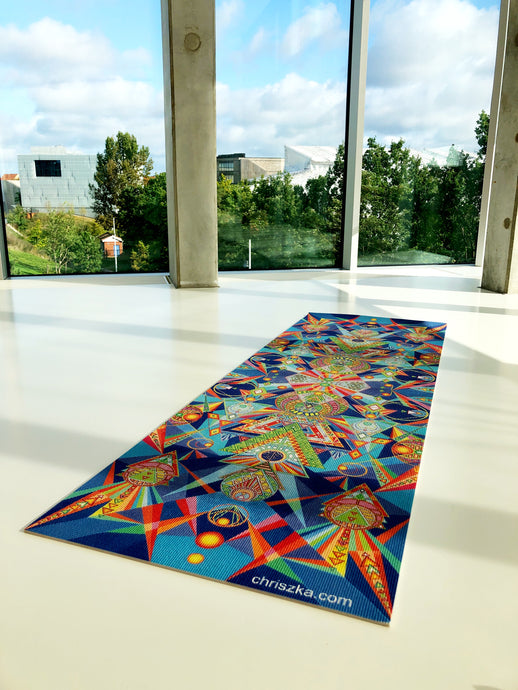 Hand-painted yoga mat: Endless Summer