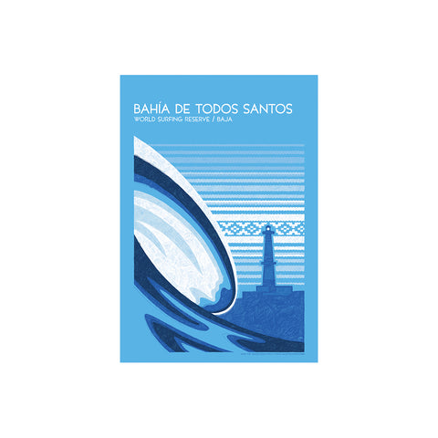 Bahía de Todos Santos World Surfing Reserve - Sticker