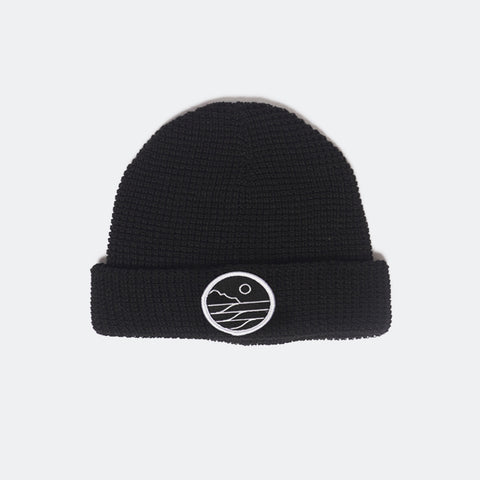 Save The Waves Classic Black Beanie