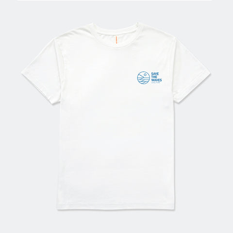 Save The Waves Unisex Classic Logo White Tee
