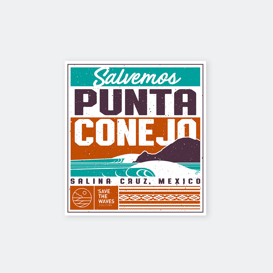 Save The WavesPunta Conejo Sticker