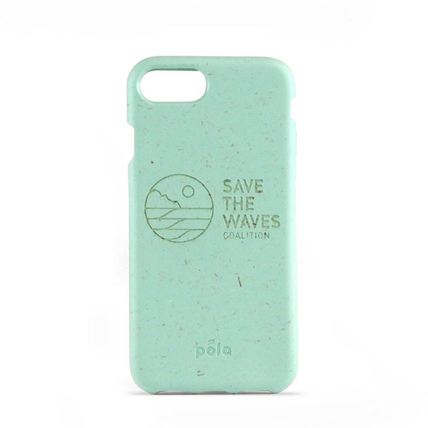 Pela Save The Waves Green Teal iPhone Case